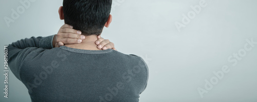 Fotomural  pain in the neck; medical concept, back view