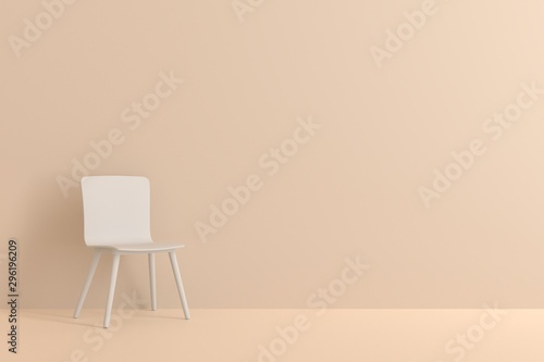 Fotografia  white chair in living room for interior or graphic backgrounds