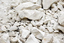A Pile Of White Stones, Cobble...