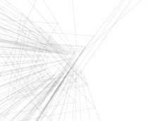 Architecture Building Linear Vector 3d Illustration
