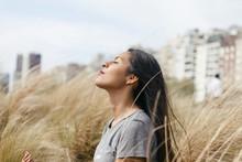 Bolivian Girl Meditating On Hi...