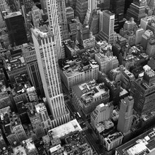 New York City From Above In Bl...