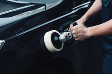 Cropped View Of Car Cleaner Po...