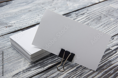 Valokuva  Business cards blank