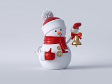 3d Christmas Snowman Standing,...