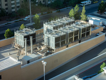 HVAC Air Chillers On Rooftop U...