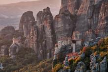 Roussanou Monastery In Meteora...