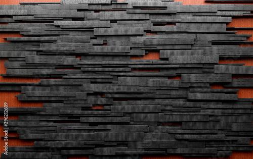 Abstrakta betonowy tło nowożytna architektura Tekstura kamienia i cementu bloki na drewnie.
