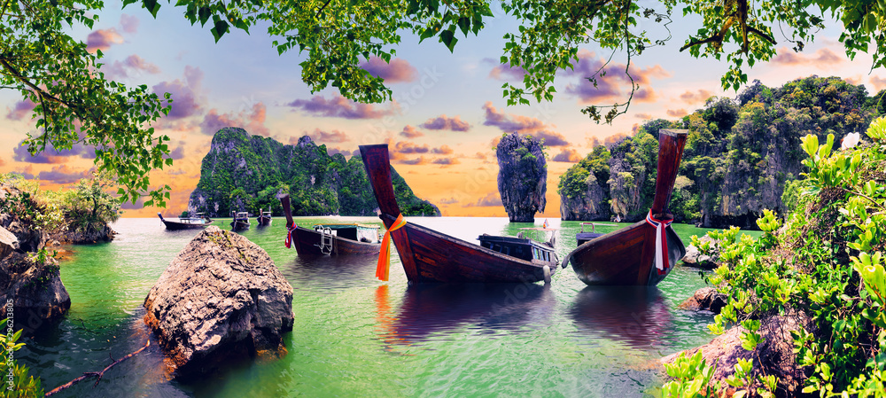 Fototapety, obrazy: Scenic Phuket landscape.Seascape and paradisiacal  idyllic beach. Scenery Thailand sea and island .Adventures and exotic travel concept
