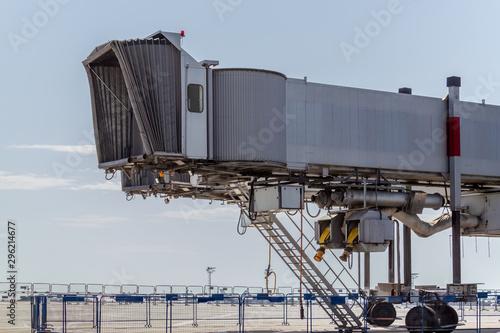 Aircraft passenger boarding bridge. Airplane bellows Wallpaper Mural