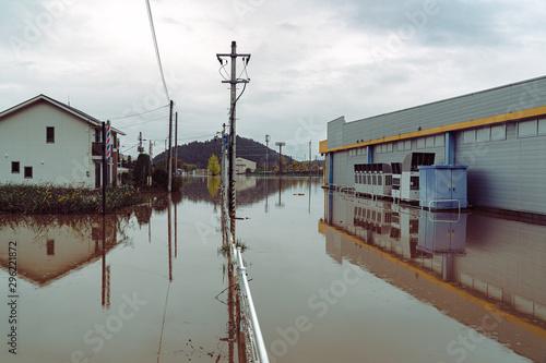 Canvastavla 台風19号 丸森町