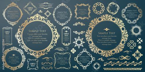 Photo  装飾デザイン 美しい額 フレームデザイン テンプレート アンティーク ビンテージ ラグジュアリー