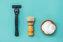 Shaving Brush, Razor And Shavi...