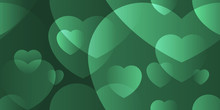 Heart Abstract Background Transparent Overlay Green Color