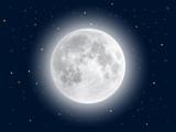 Fototapeta Kosmos - Realistic full moon. Vector