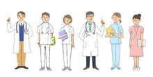 医者と看護師 男女