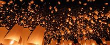 Sky Lanterns In Chiang Mai ,Th...