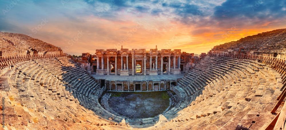 Fototapeta Amphitheater in ancient city of Hierapolis
