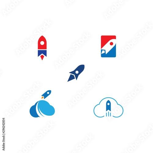 Obraz Rocket ilustration logo vector - fototapety do salonu