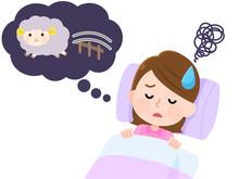 不眠症 眠れなくて困る女性02 羊を数える イラスト