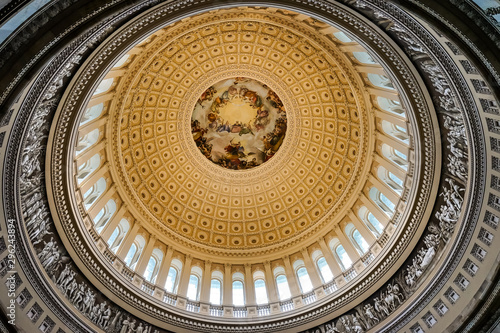 Fotografiet US Capitol Dome Rotunda Apothesis Washington DC