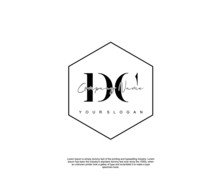 Initial Letter DC Beauty Handw...