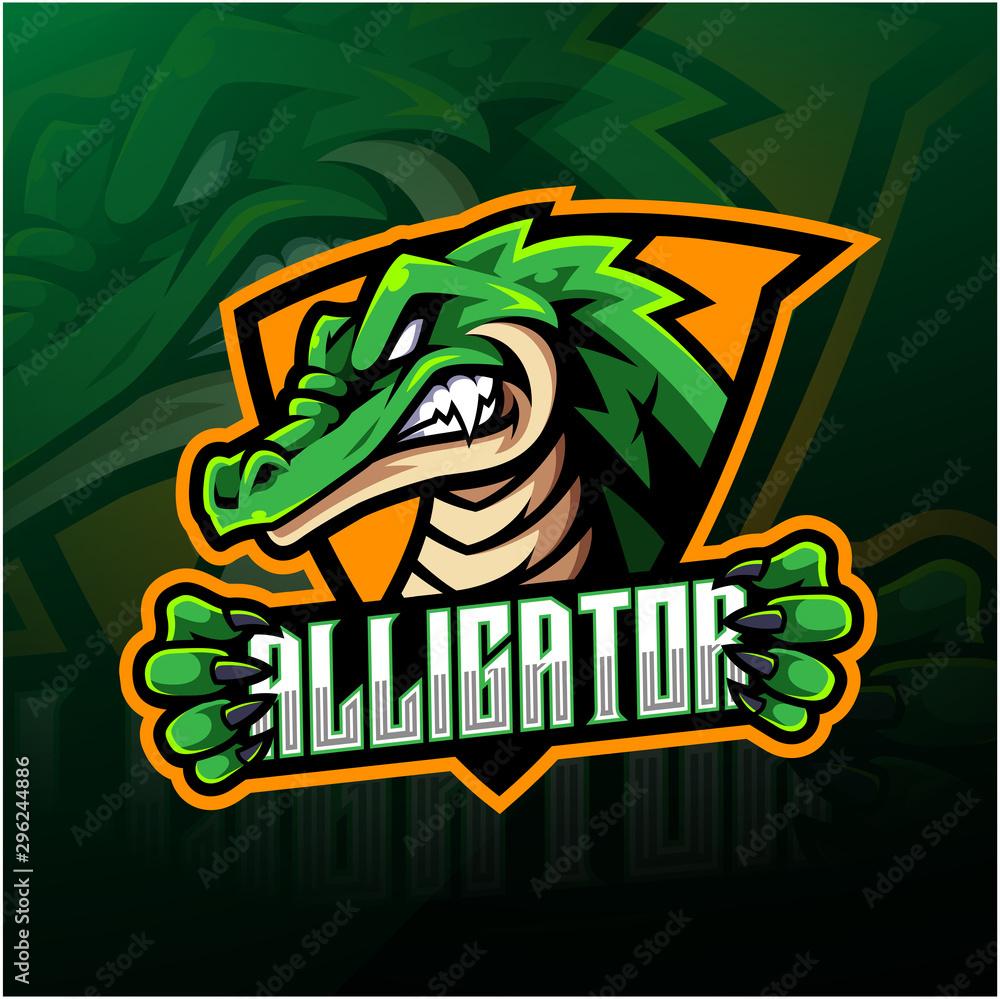 Fototapeta Alligator sport mascot logo design