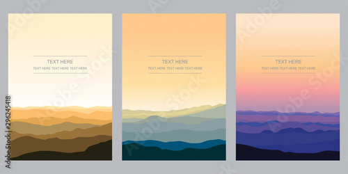 Cadres-photo bureau Beige Mountain Range Template