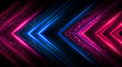 canvas print picture Dark abstract futuristic background. Neon lines, glow. Neon lines, shapes. Pink and blue glow.