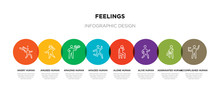 8 Colorful Feelings Outline Ic...