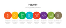 8 Colorful Feelings Outline Ic...