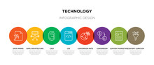 8 Colorful Technology Outline ...