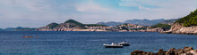 Dubrovnik Old Town Panoramic Image In Southern Croatia