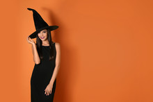 Beautiful Woman Wearing Witch ...