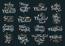 Merry Christmas Greetings Whit...