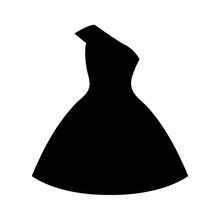 Dress Icon, Logo Isolated On W...