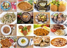 Traditional Delicious Turkish Food Collage