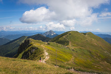 Mount Velky Rozsutec Viewed From The Crest Of Mala Fatra Mountain Range Near Mount Chleb, Slovakia