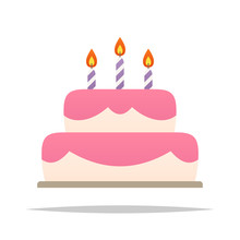 Birthday Cake Vector Isolated ...