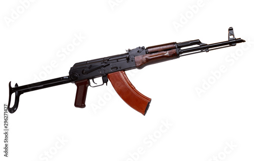 Russian assault rifle AK-47 isolated on white Wallpaper Mural