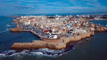 Aerial View To The Old Akko Port, Israel