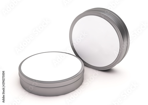 round tin tube cosmetic mockup Canvas Print