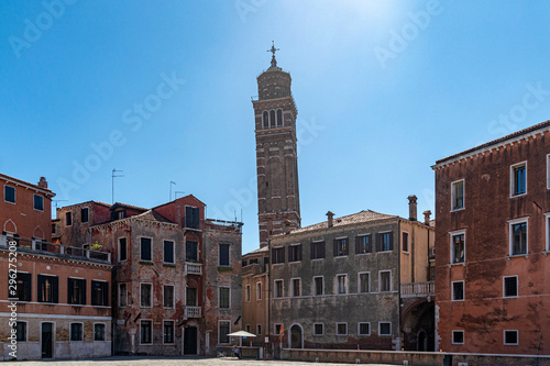 saint stephen crooked awry tower belwry in venice Wallpaper Mural