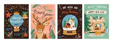 Festive Xmas Greeting Cards Ve...