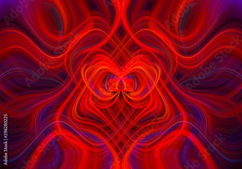 Poster Fractal waves Abstract Fractal Background. Futuristic Wavy Fractal artwork. abstract technology. Modern art. Design element. Digital fantasy effect. Trendy desktop wallpaper. Graphic Design