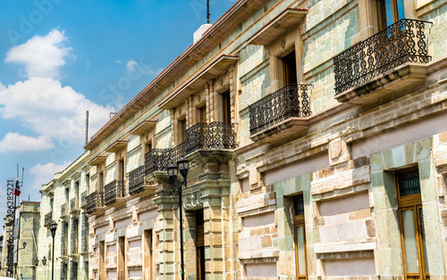 Traditional colonial architecture in Oaxaca, Mexico