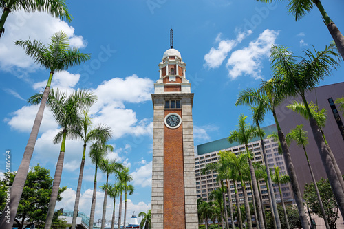 The Clock Tower in  Hong Kong Canvas Print