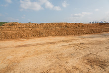 Outdoor Construction Dirt Road Earthwork And Sky Landscape