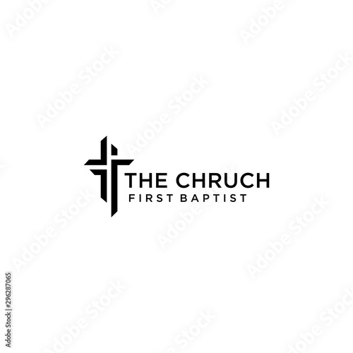 Church logo sign modern vector graphic abstract Canvas Print