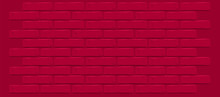 Dark Red Maroon Brick Wall Tex...